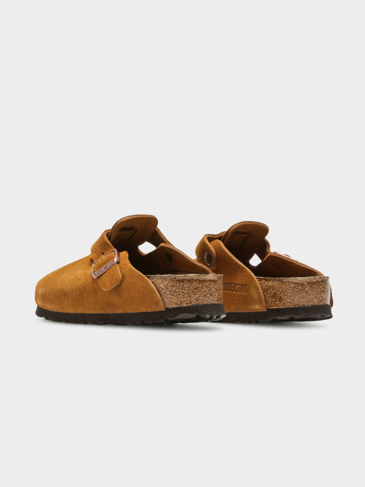 Unisex Boston Soft Footbed Slip-Ons in Mink Suede Leather