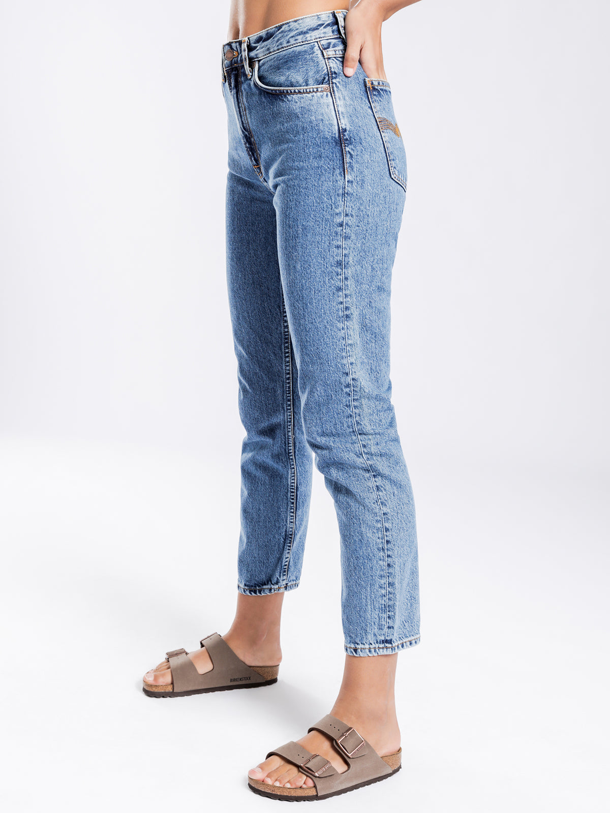 Breezy Britt Tapered Jeans in Friendly Blue