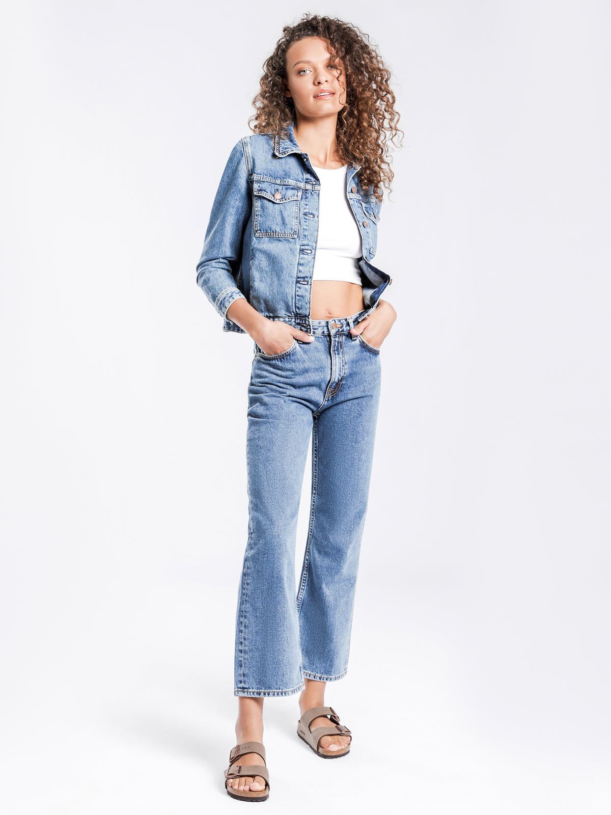 Clean Eileen Wide Leg Jeans in Gentle Blue