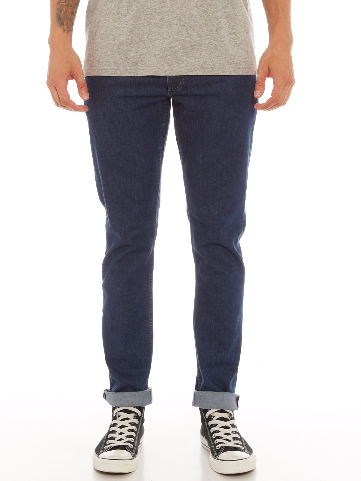 Razor Slim Straight Jeans in ICF Blue Denim