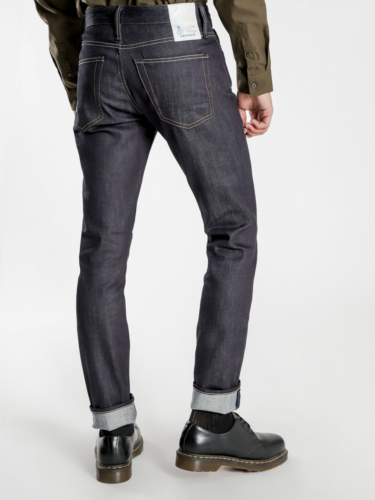 Bolt Vcors Skinny Jeans in Blue Wash Denim