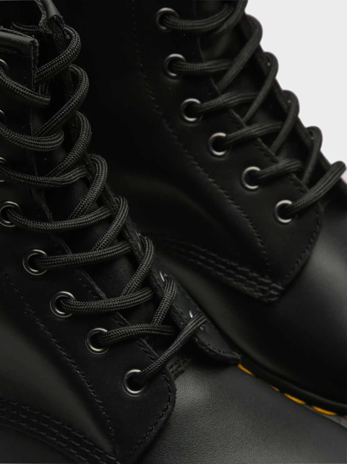 Unisex 1460 Lace-Up Boots in Nappa Black Leather