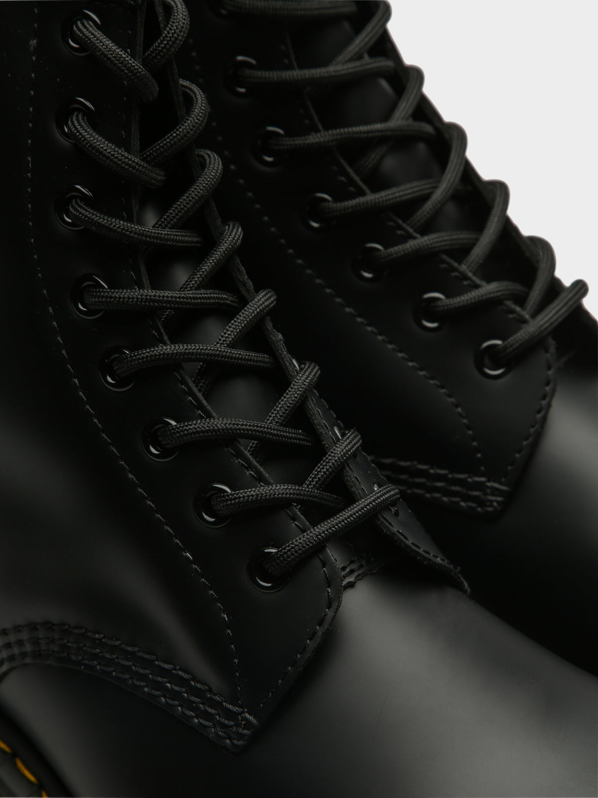 Unisex 1460 Lace-Up Boots in Smooth Black Leather