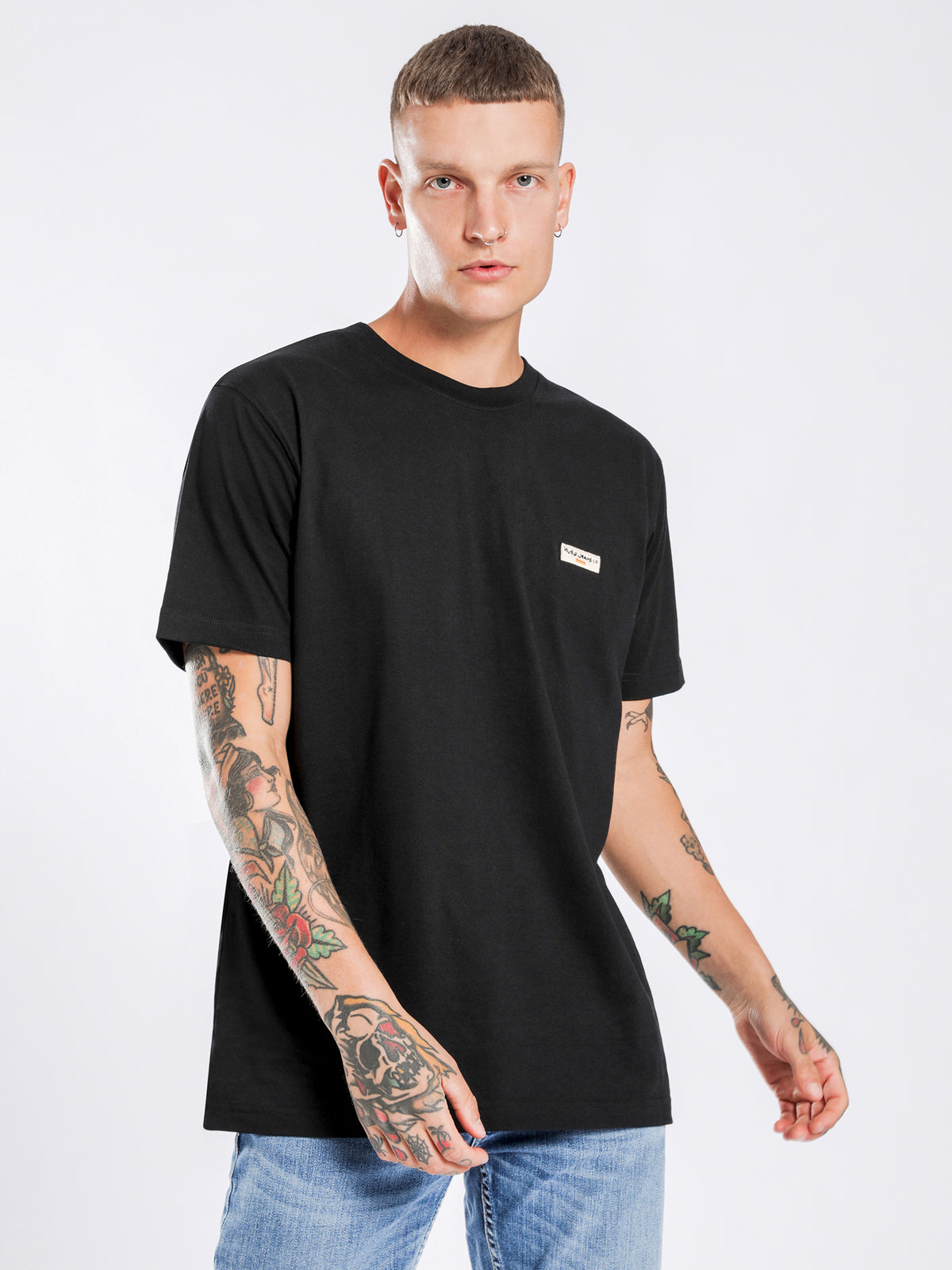 Daniel Logo T-Shirt in Black