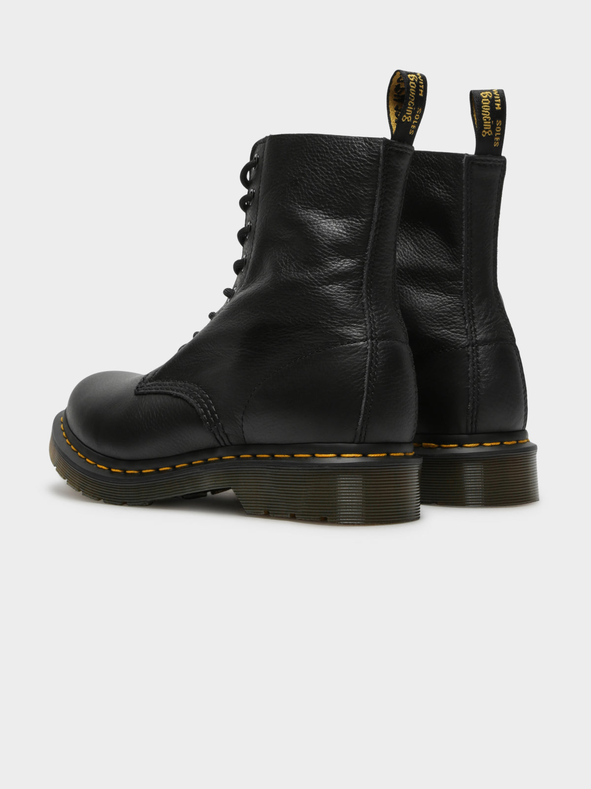 Womens Pascal 8 Eye Boots in Black
