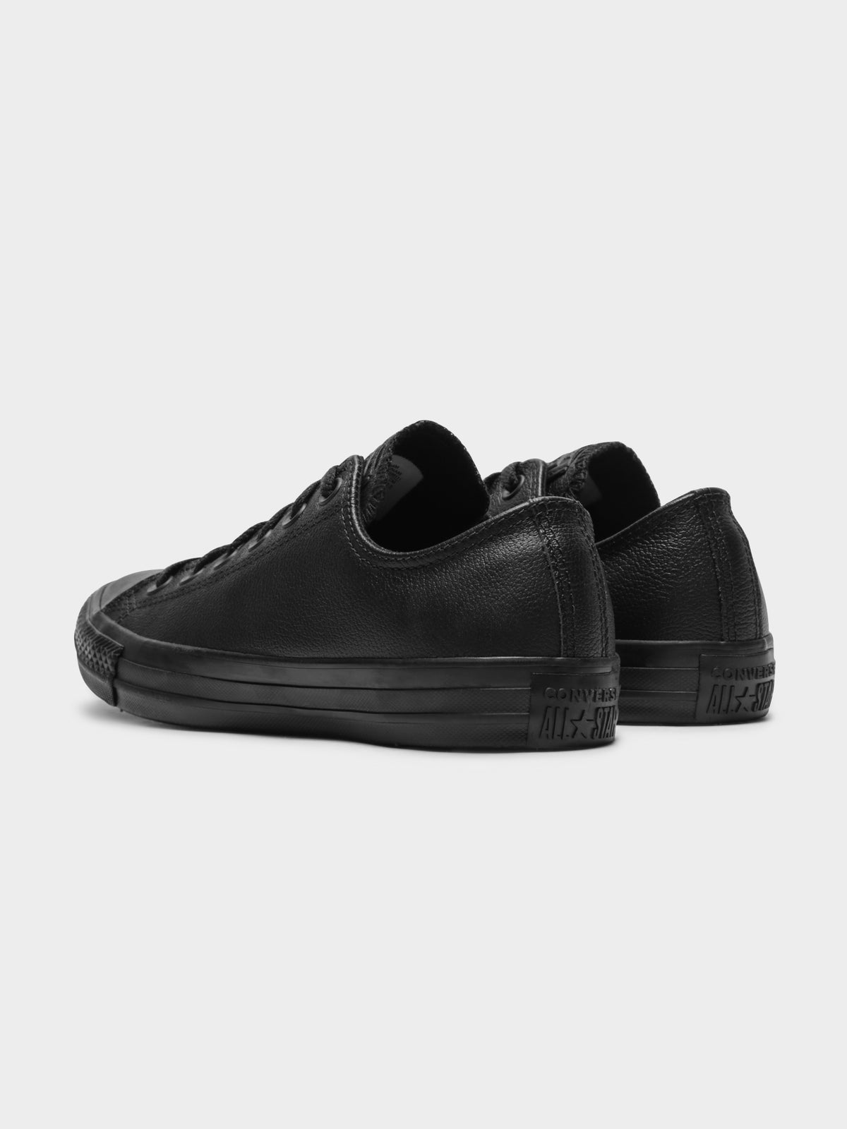 Unisex Chuck Taylor All Star Low Leather Mono Sneakers in Black
