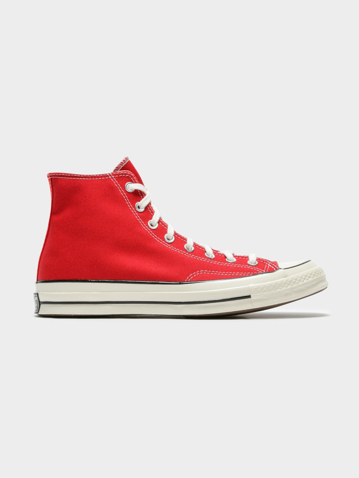 Mens All Star 70 Always On High Top Sneakers in Red & White