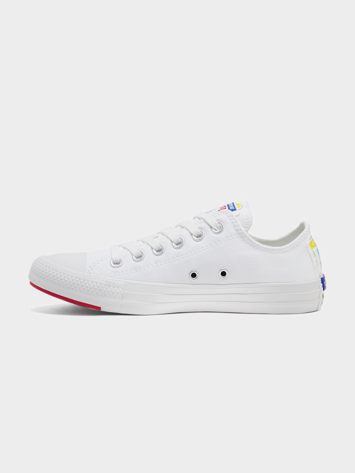 Unisex Chuck Taylor All Star Stacked Logo Low Top Sneakers in White