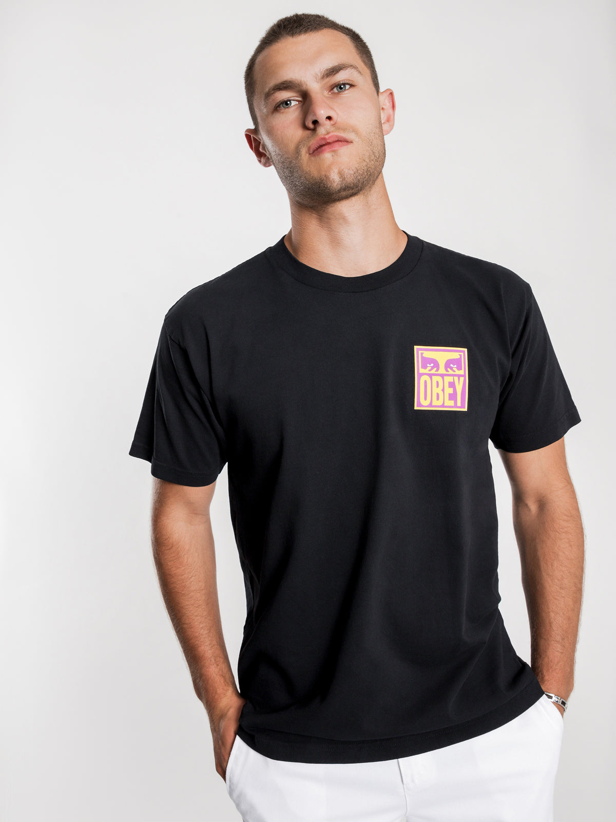 Eyes Icon T-Shirt in Black
