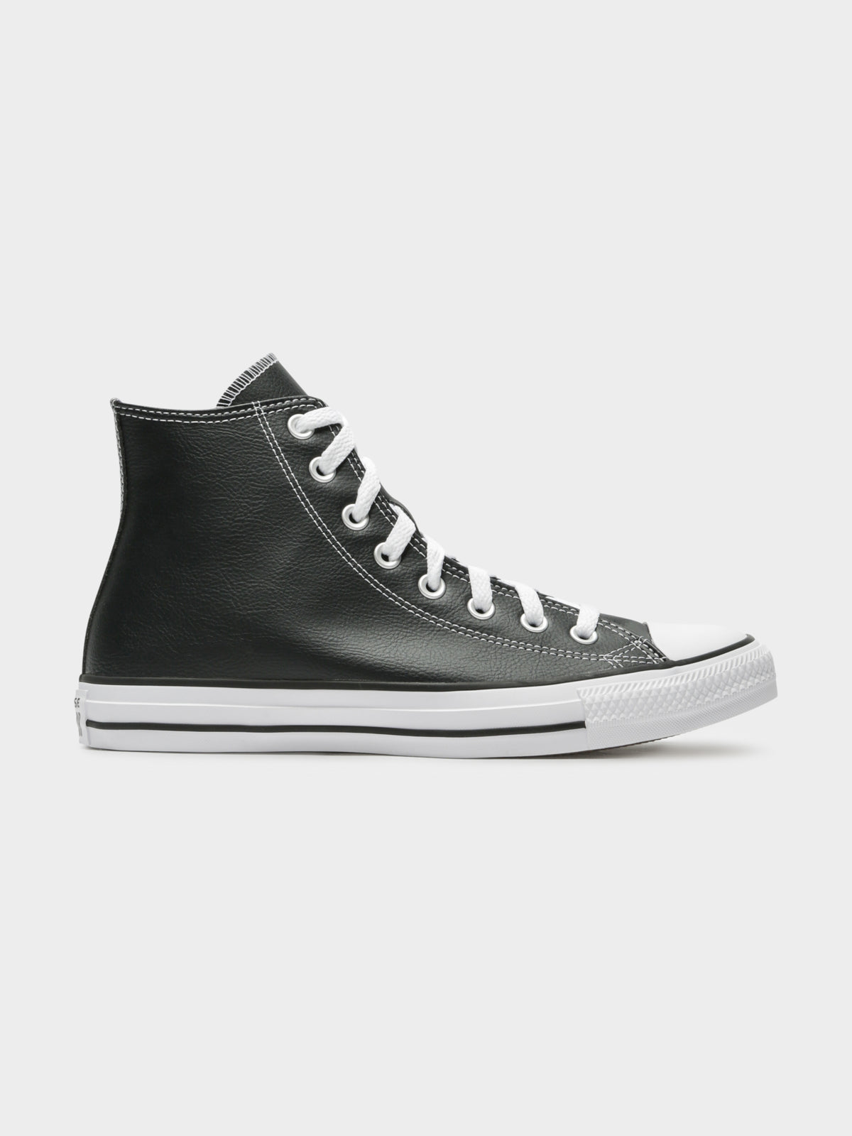 Unisex Chuck Taylor Hi All Star Leather Sneakers in Black & Purple