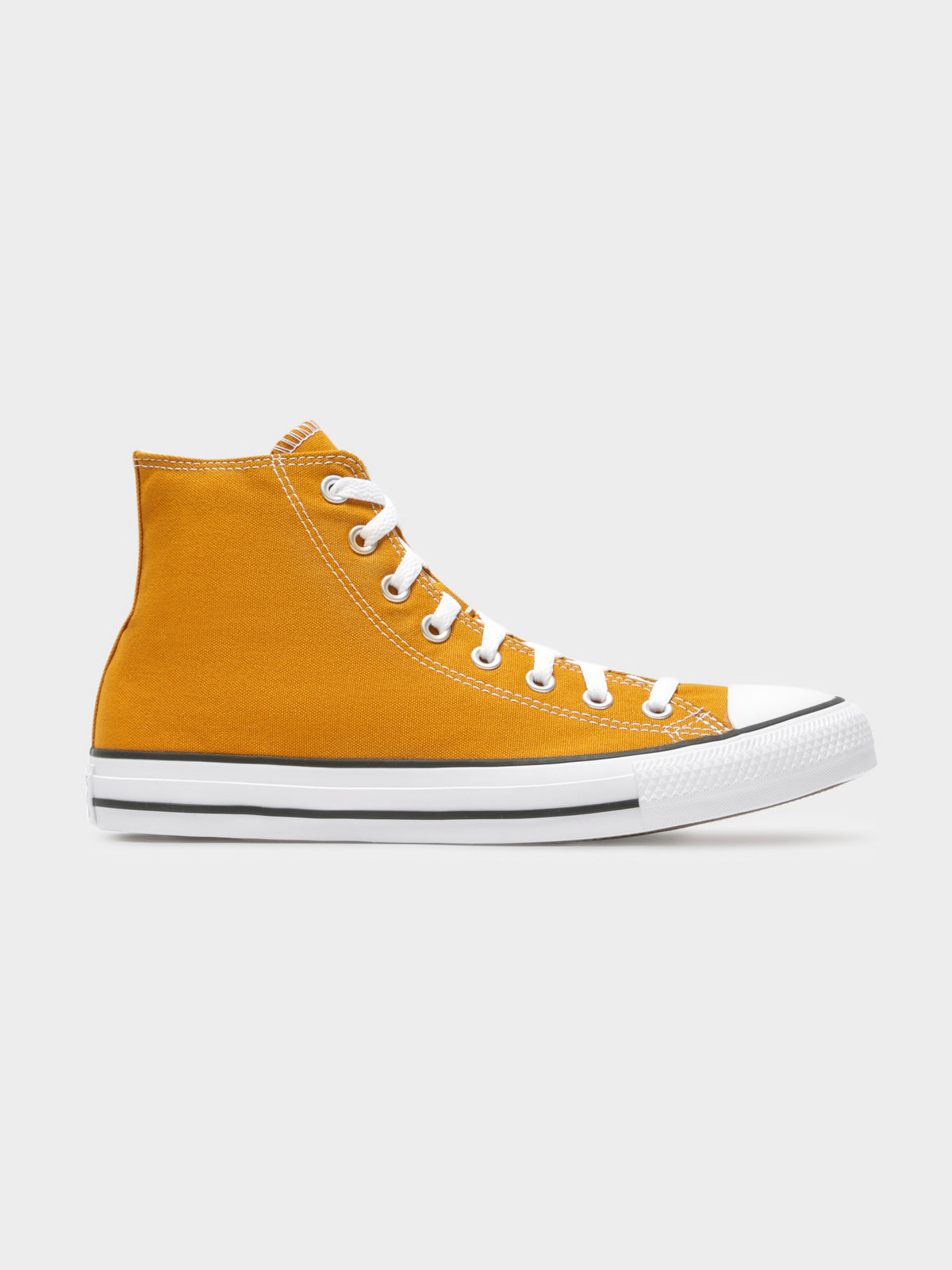 Unisex Chuck Taylor High Top Sneakers in Staffron Yellow