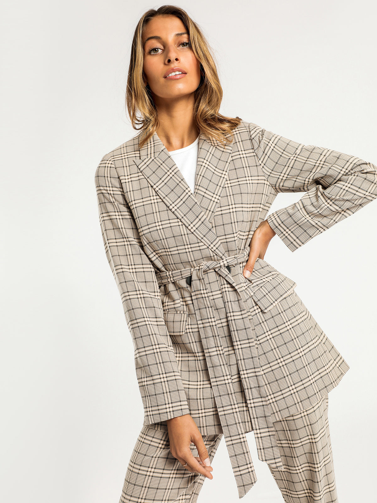 Cora Blazer in Check