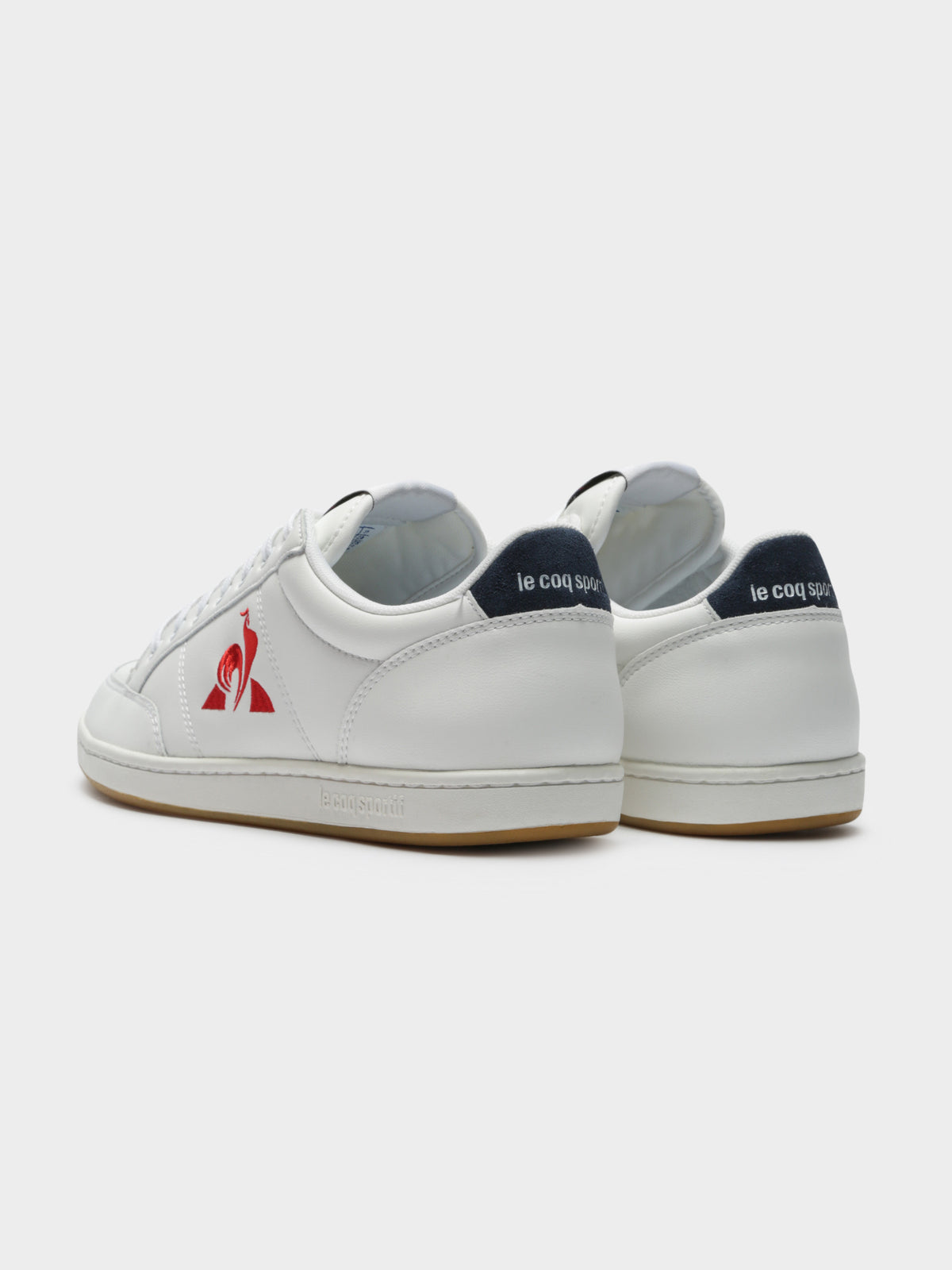 Mens Court Sneakers in White