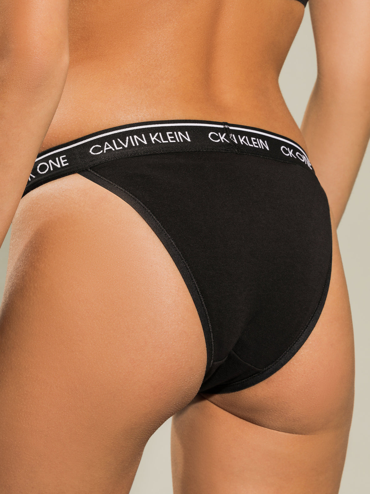 One Cotton Brazilian Briefs in Black