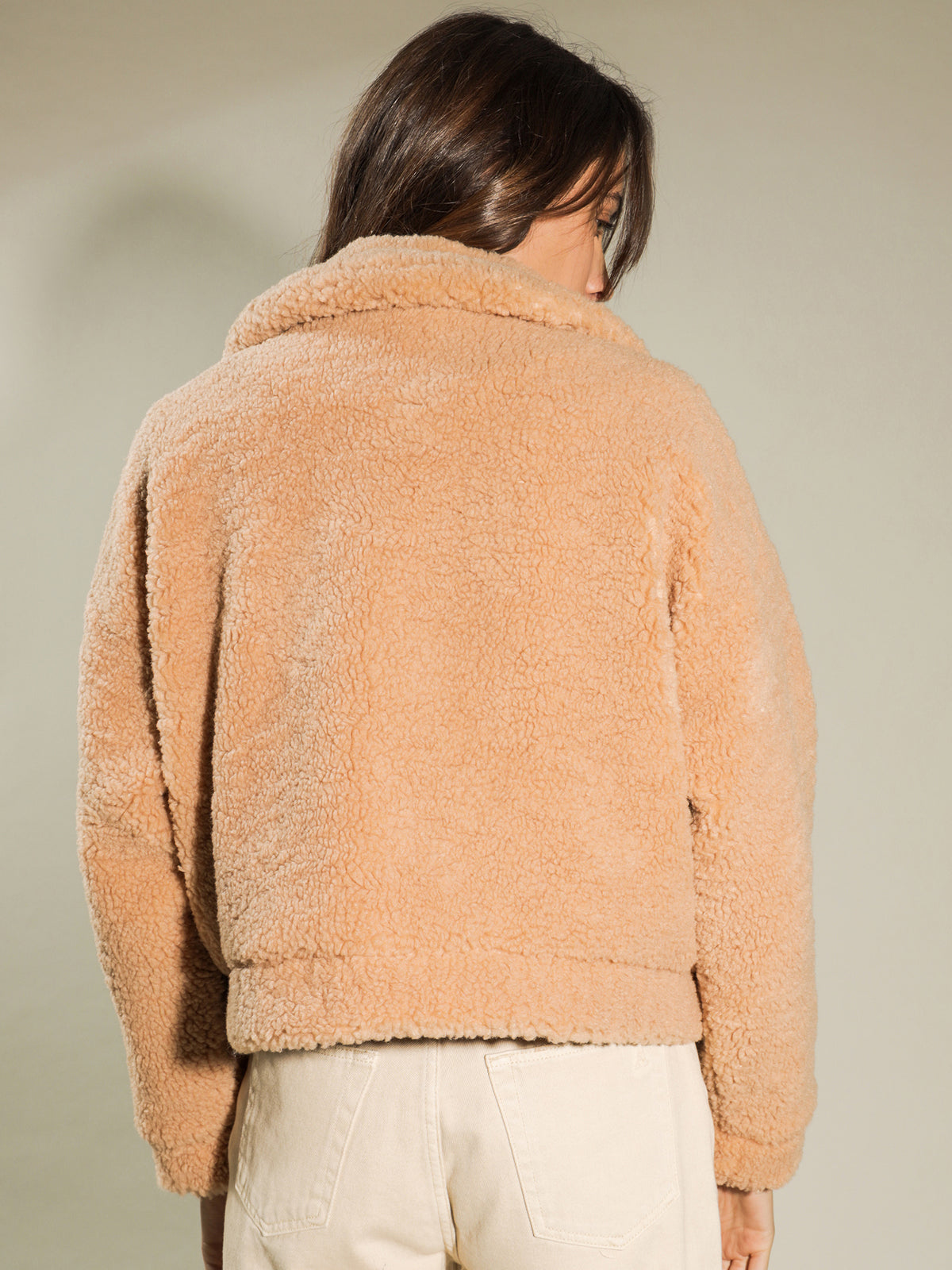Anouk Teddy Jacket in Tan