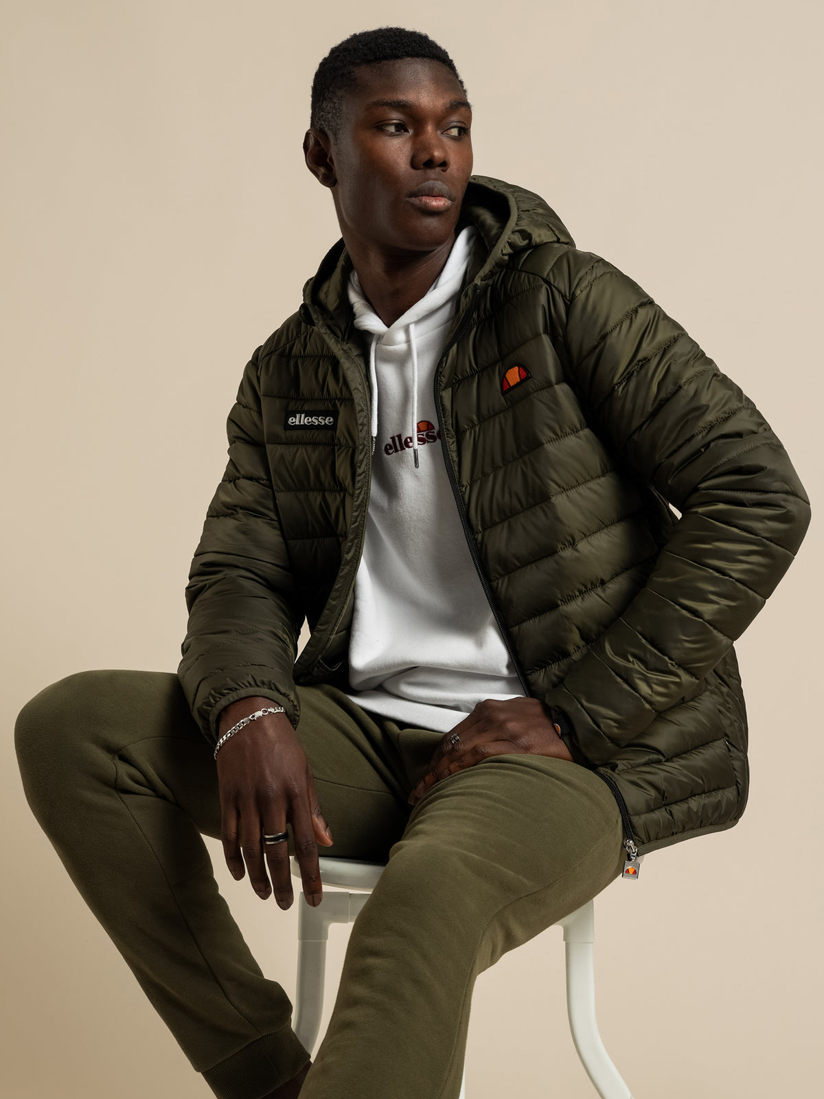 Lombardy Padded Jacket in Khaki