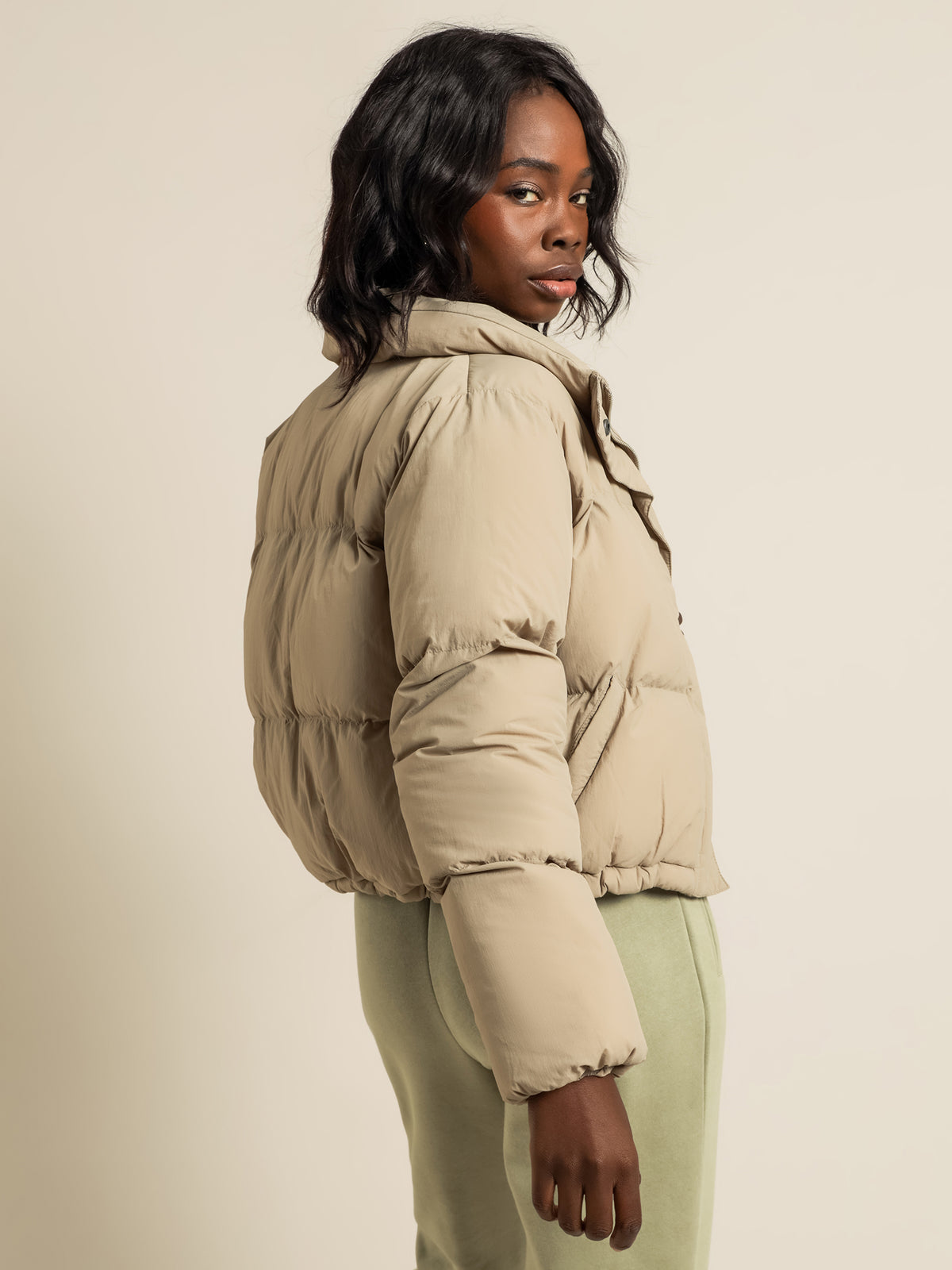 Topher Puffer Jacket in Mocha