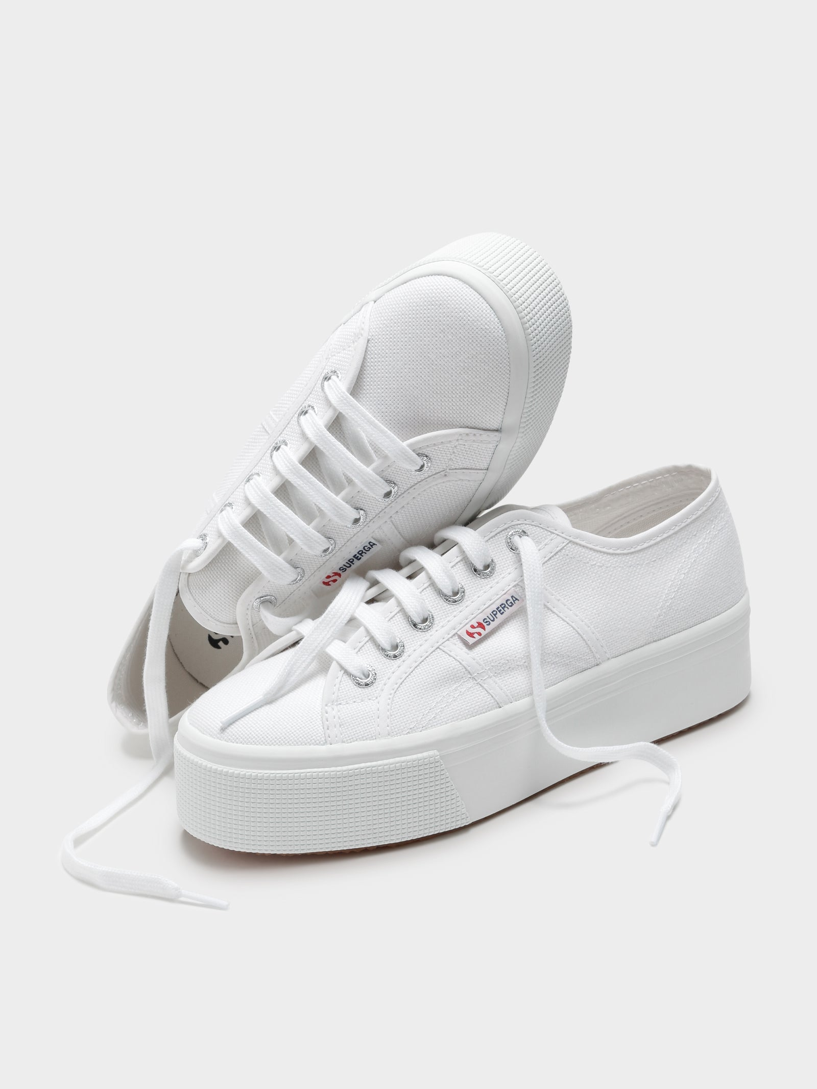 Womens 2790 Linea Up and Down Platform Sneakers in White