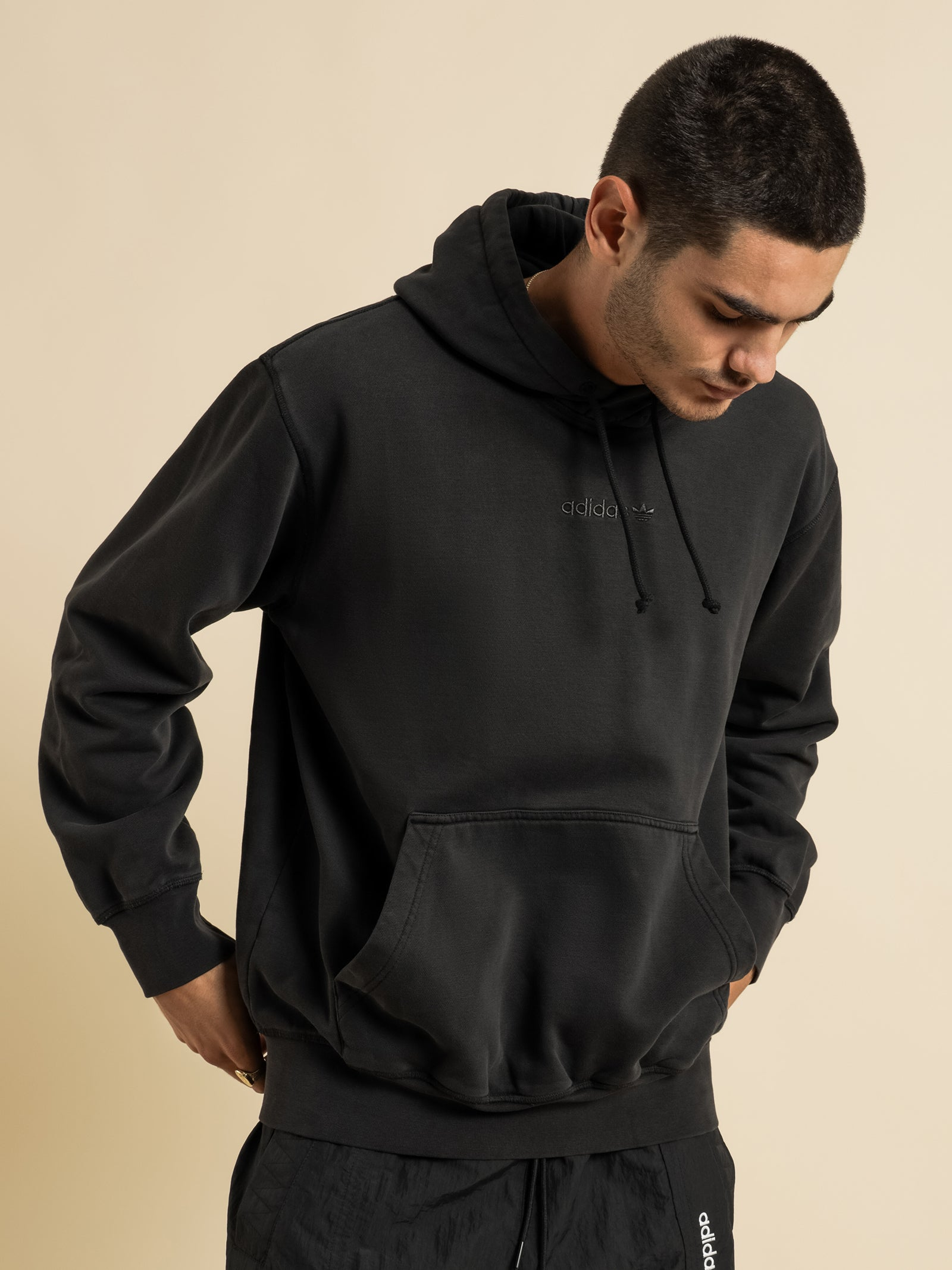Overdyed Hoodie in Black
