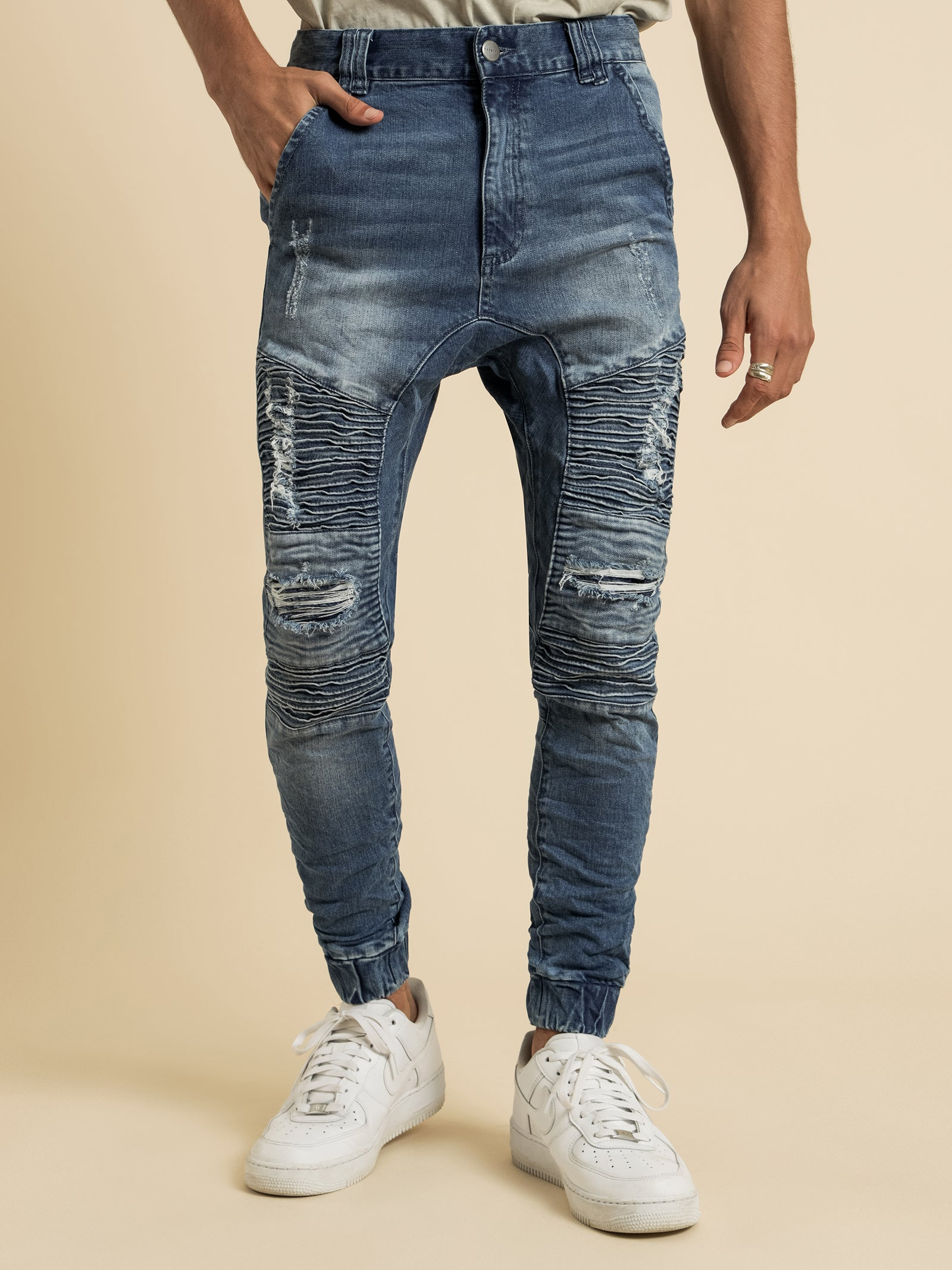 Hellcat Tight Tapered Jeans in Kentucky Blue Denim