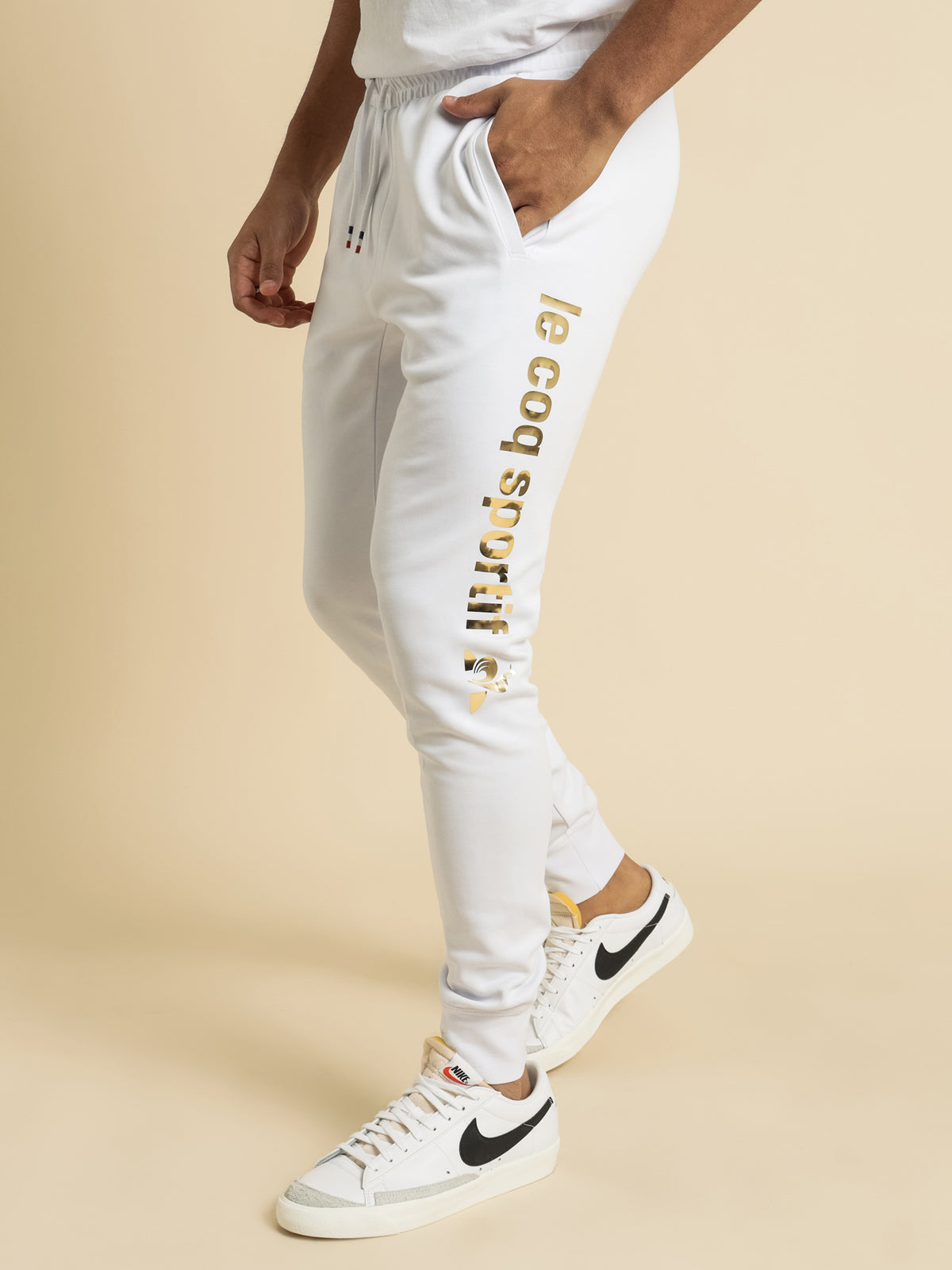 Roissey Foil Trackpants in White