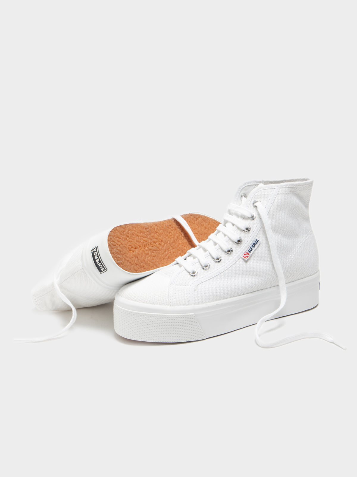 2705 Hi Top Sneakers in White