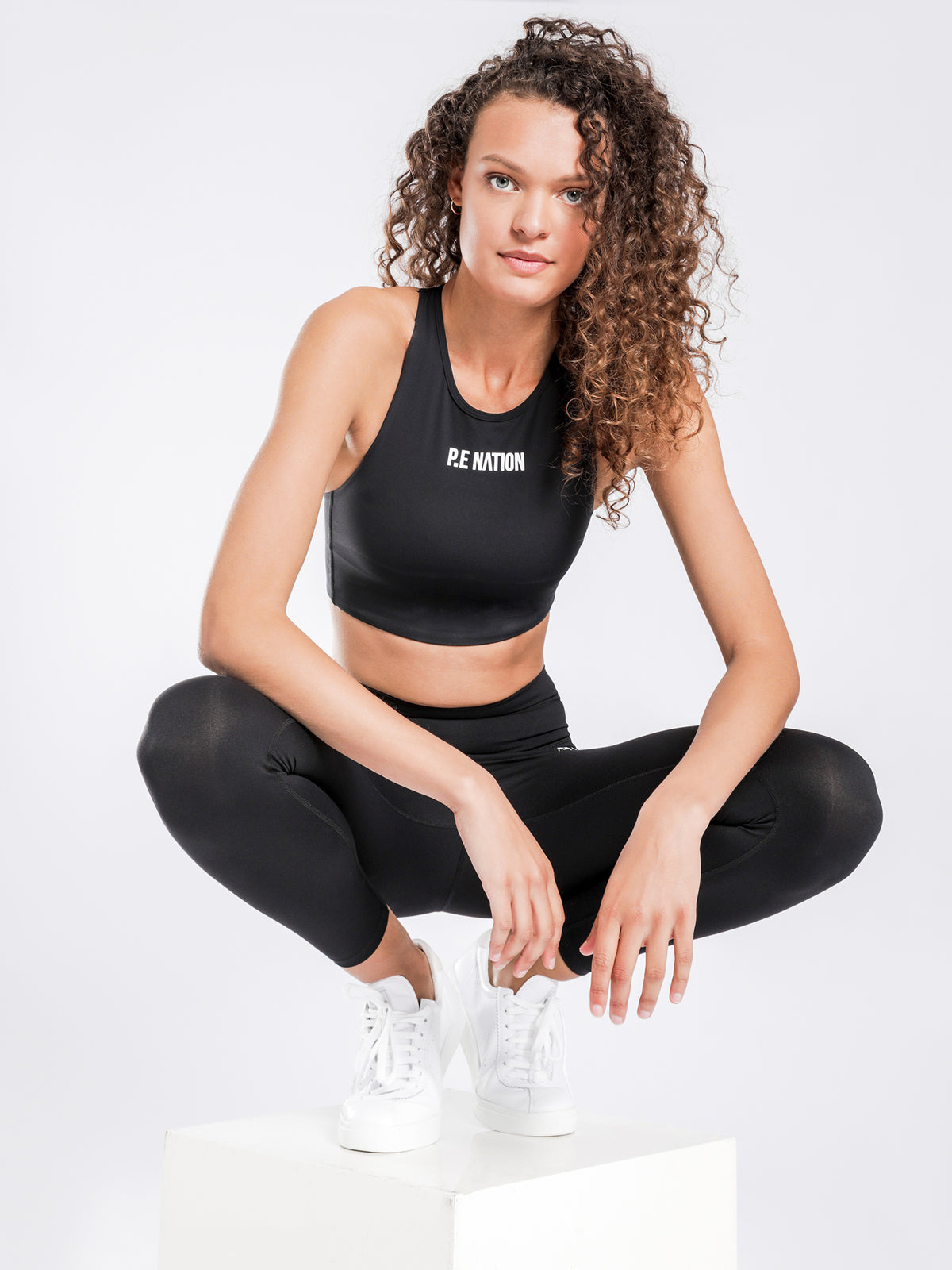 Racing Line Sports Bra in Black
