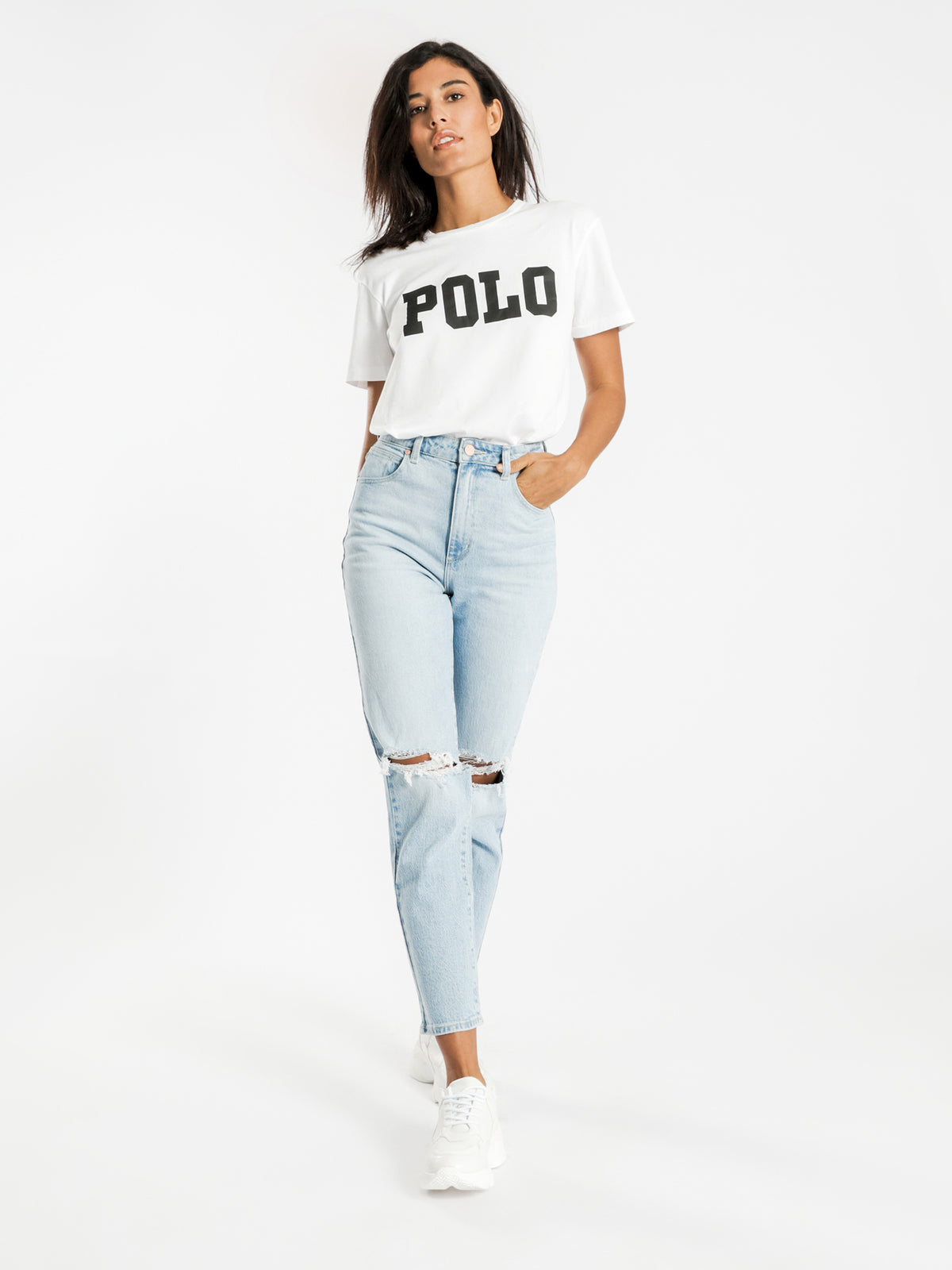 Big Polo Logo T-Shirt in White