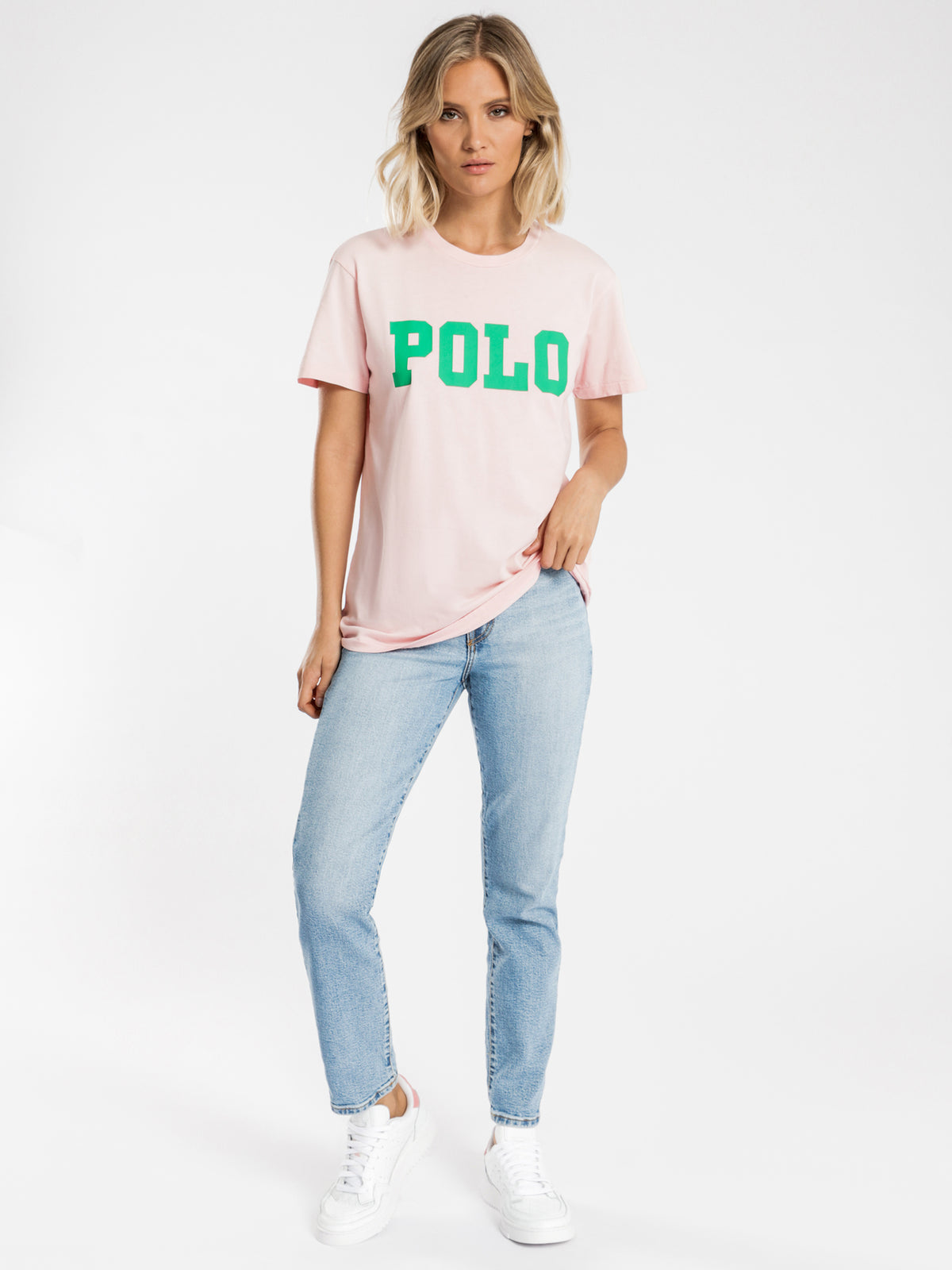 Big Polo Logo T-Shirt in Pink Sand