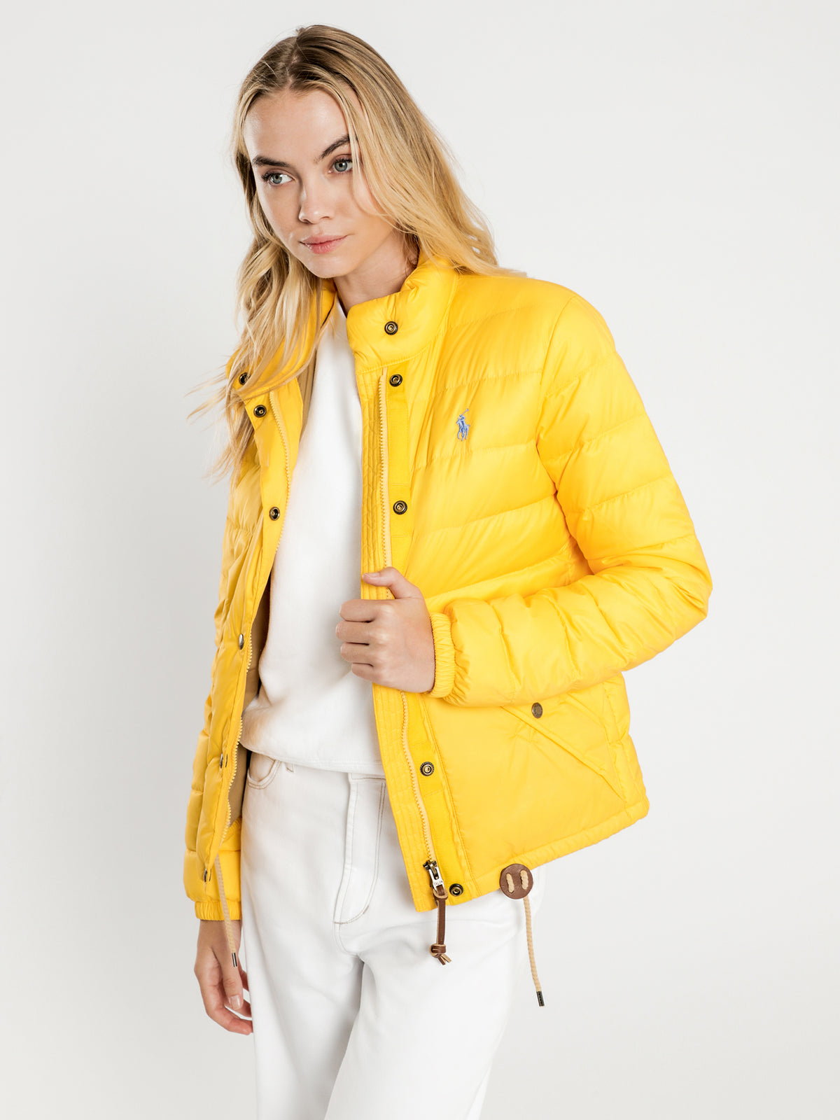Padded Shell Jacket in Athletic Gold