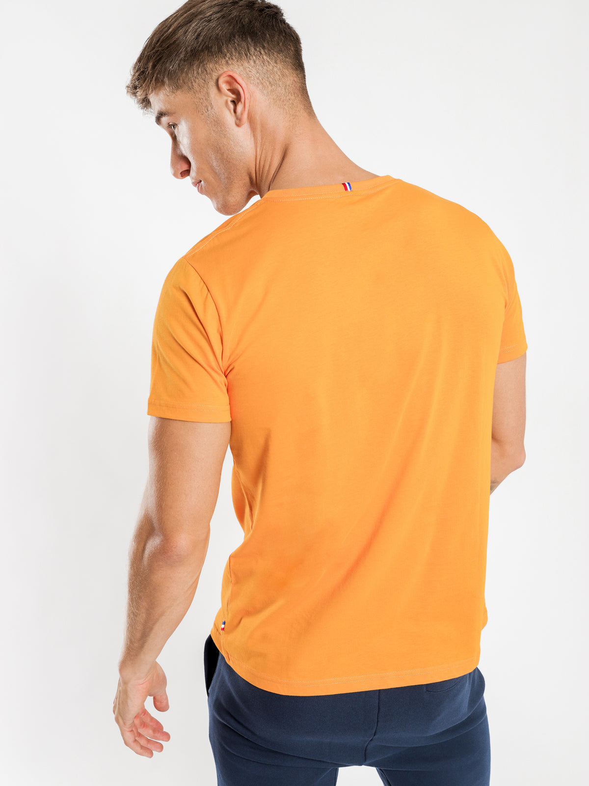 Essentiel Logo T-Shirt in Amber Orange
