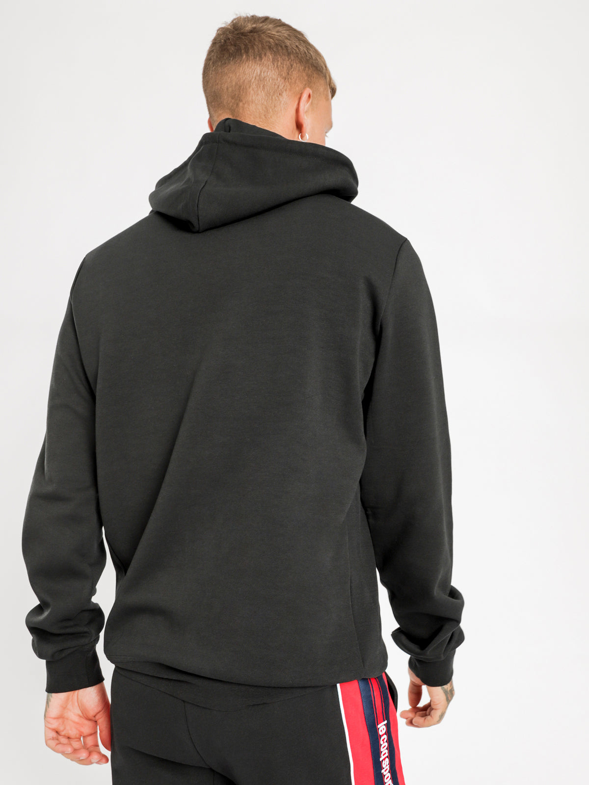 Essentiel Logo Hooded Sweat in Black
