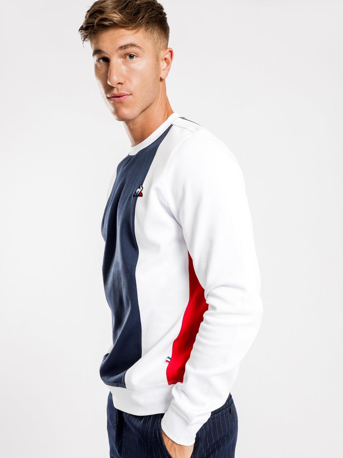 Joel Pullover Sweater in White