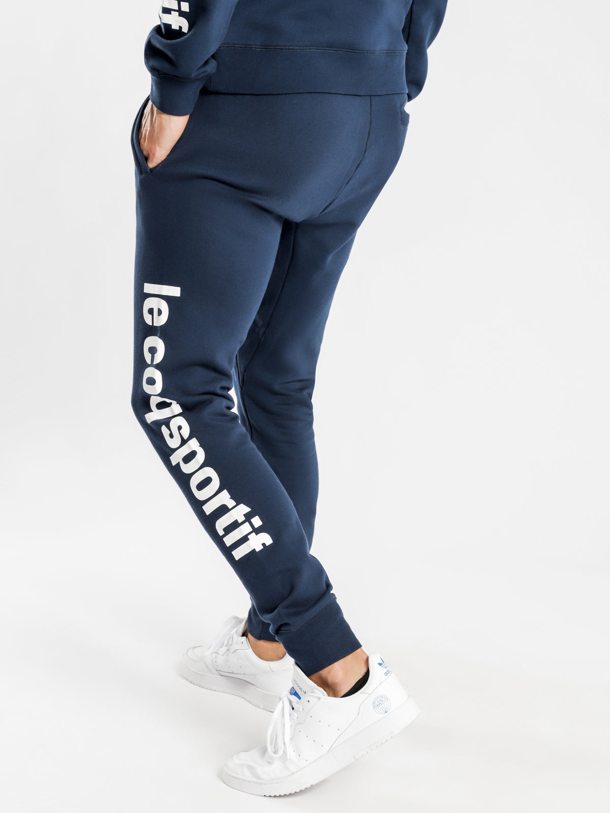 Pierre Track Pants in Navy Blue