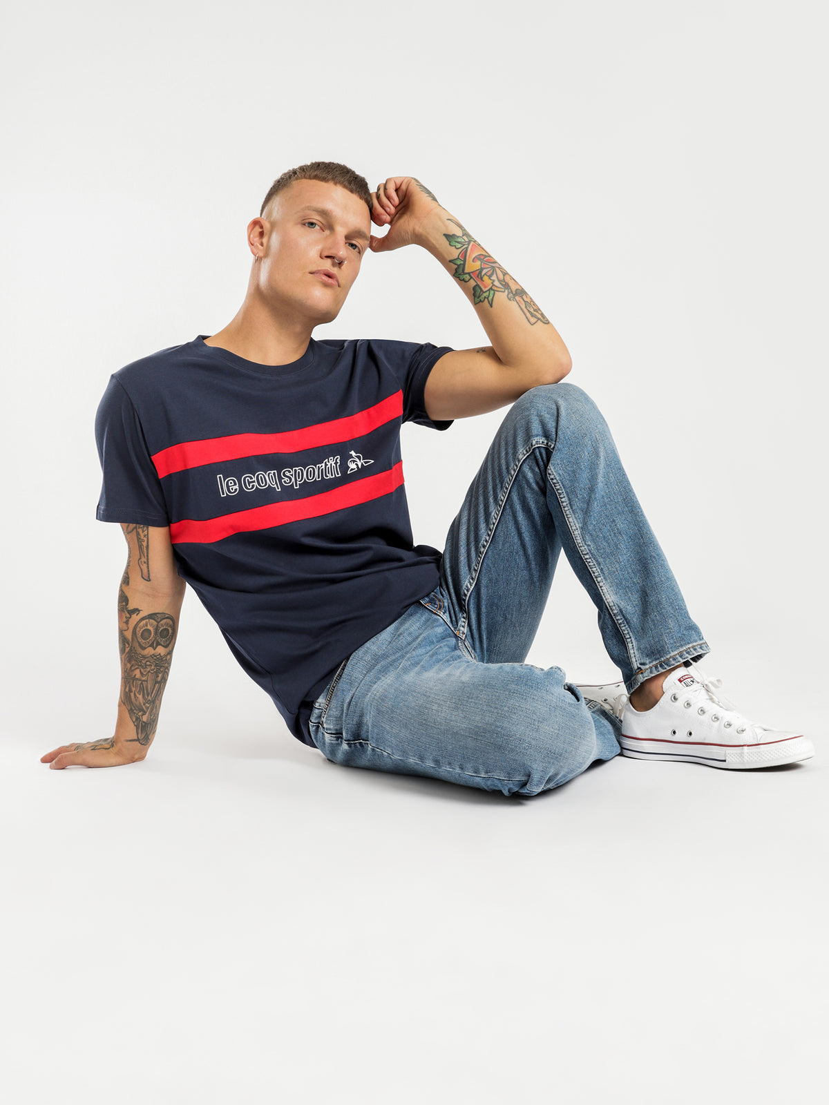 Clovis T-Shirt in Navy
