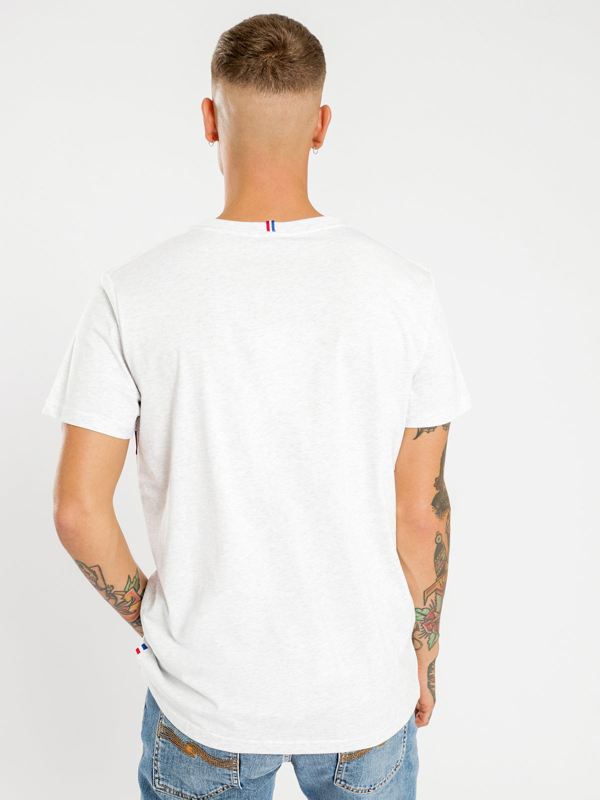 Clovis Short Sleeve T-Shirt in Snow Marle