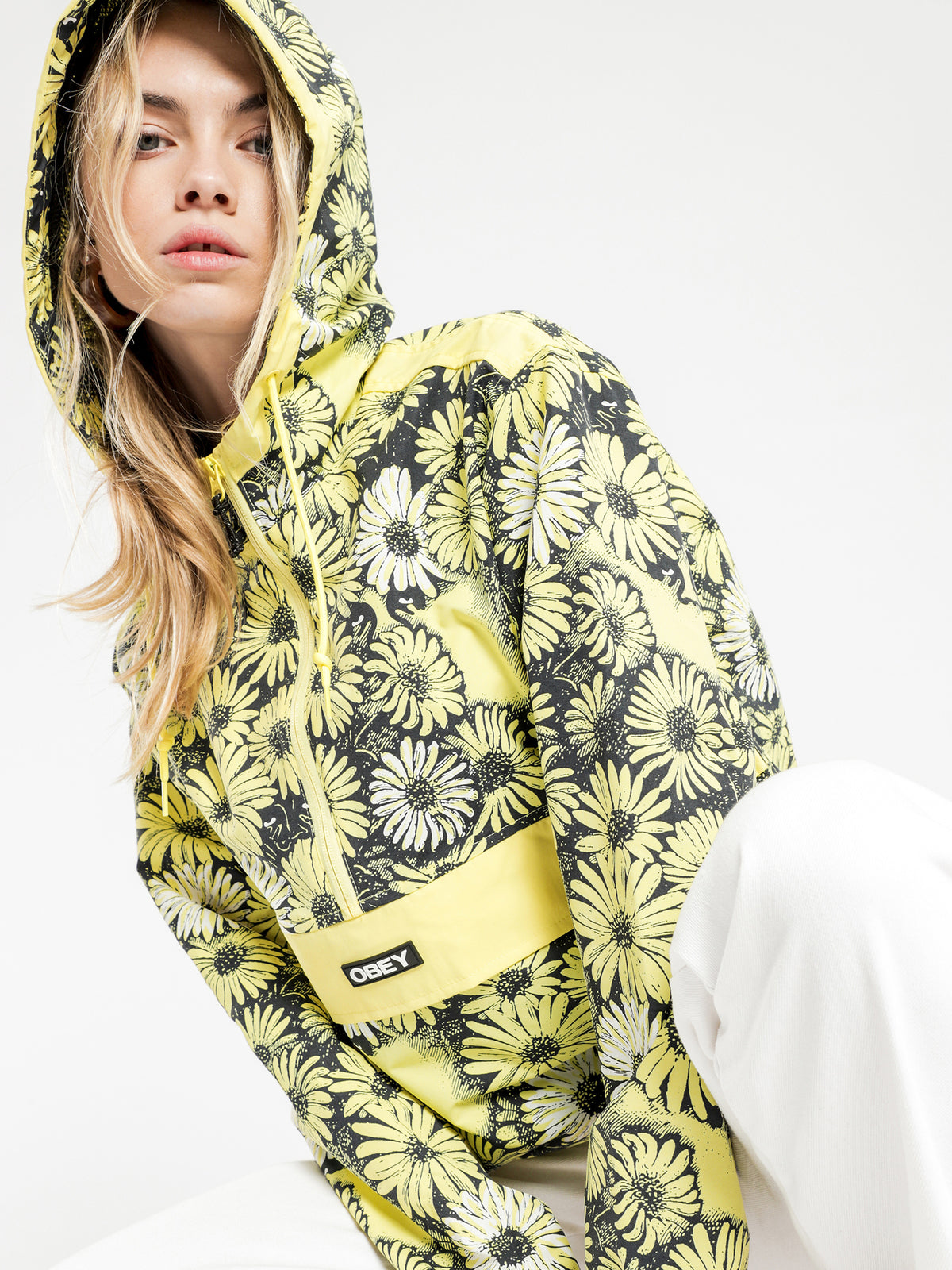 Daisy Anorak Jacket in Yellow