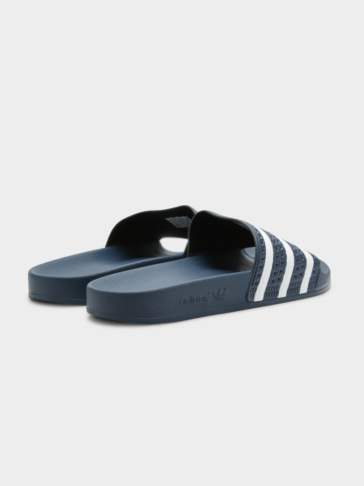 Unisex Adilette Slides in Navy and White