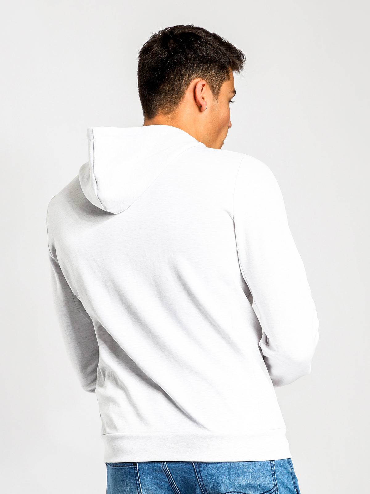 Essentiel Hooded Sweater in Snow Marle
