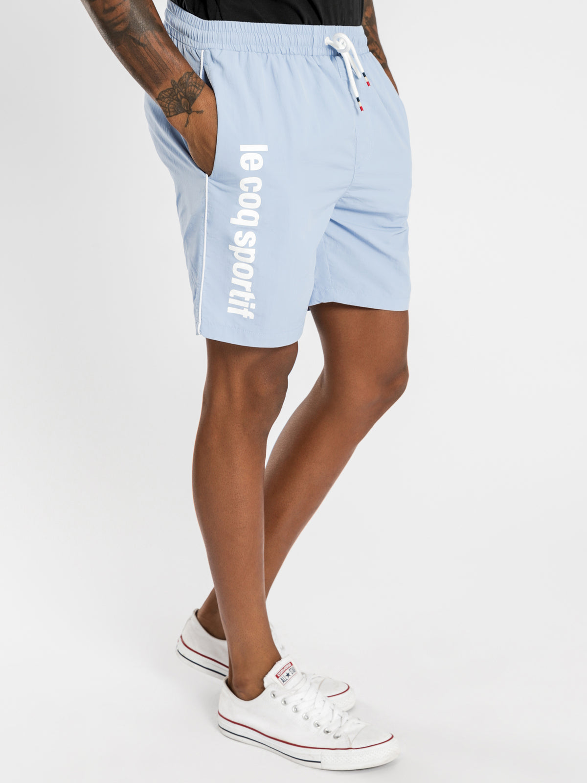 Concurrent Shorts in Light Blue