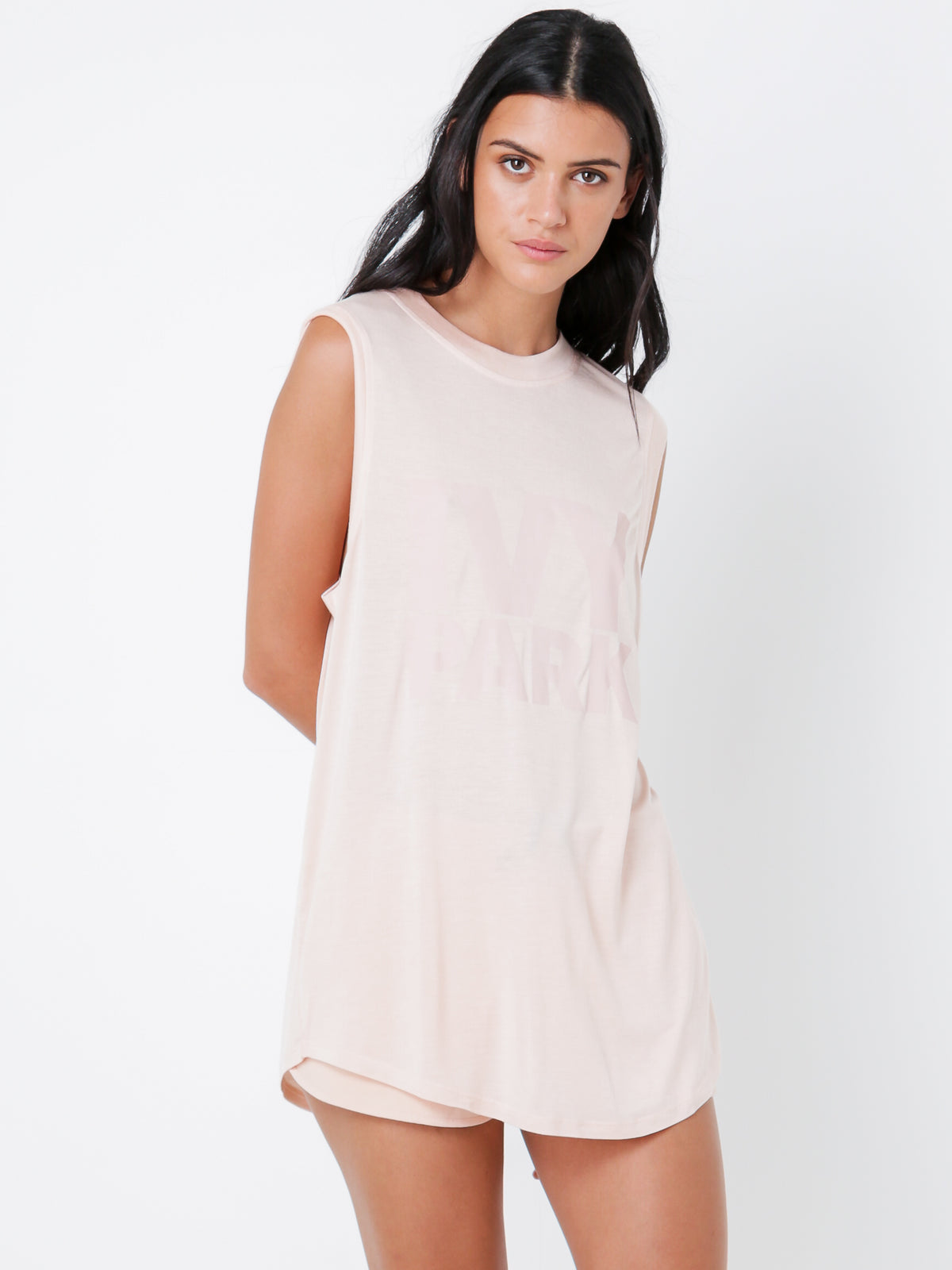 Logo Tank in Blush