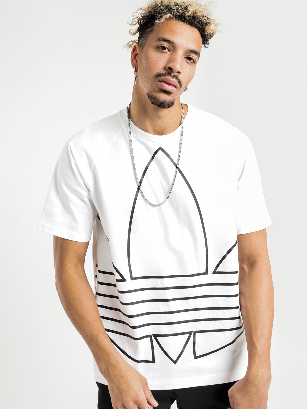 Originals Big Trefoil Outline T-Shirt in White