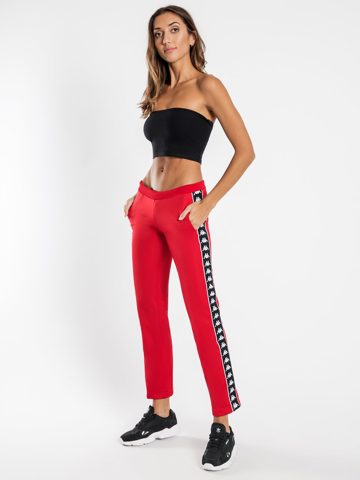 222 Banda Wastoria Track Pants in Red