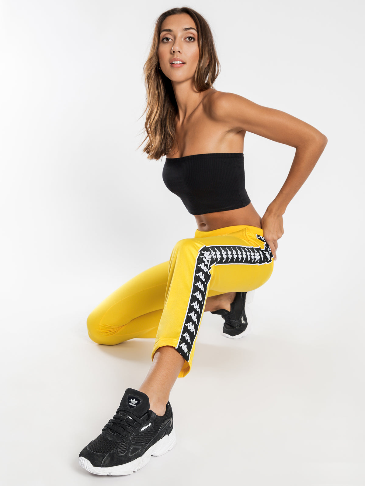222 Banda Wastoria Track Pants in Yellow