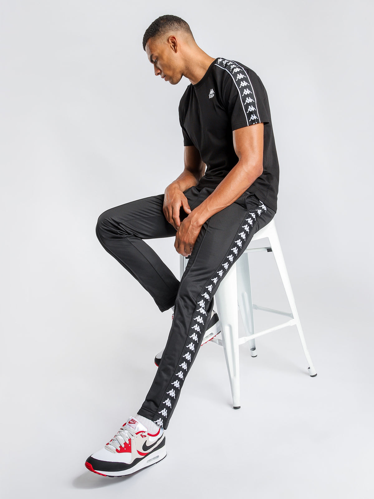 222 Banda Astoria Slim Track Pants in Black