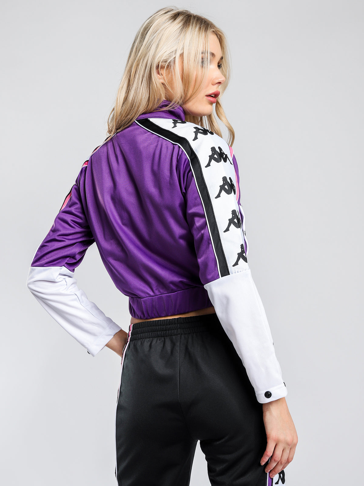 222 Banda 10 Antey Track Jacket in Violet White & Black
