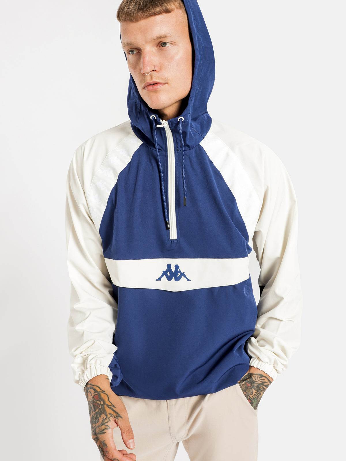 Authentic Bakit Hooded Pullover in Blue