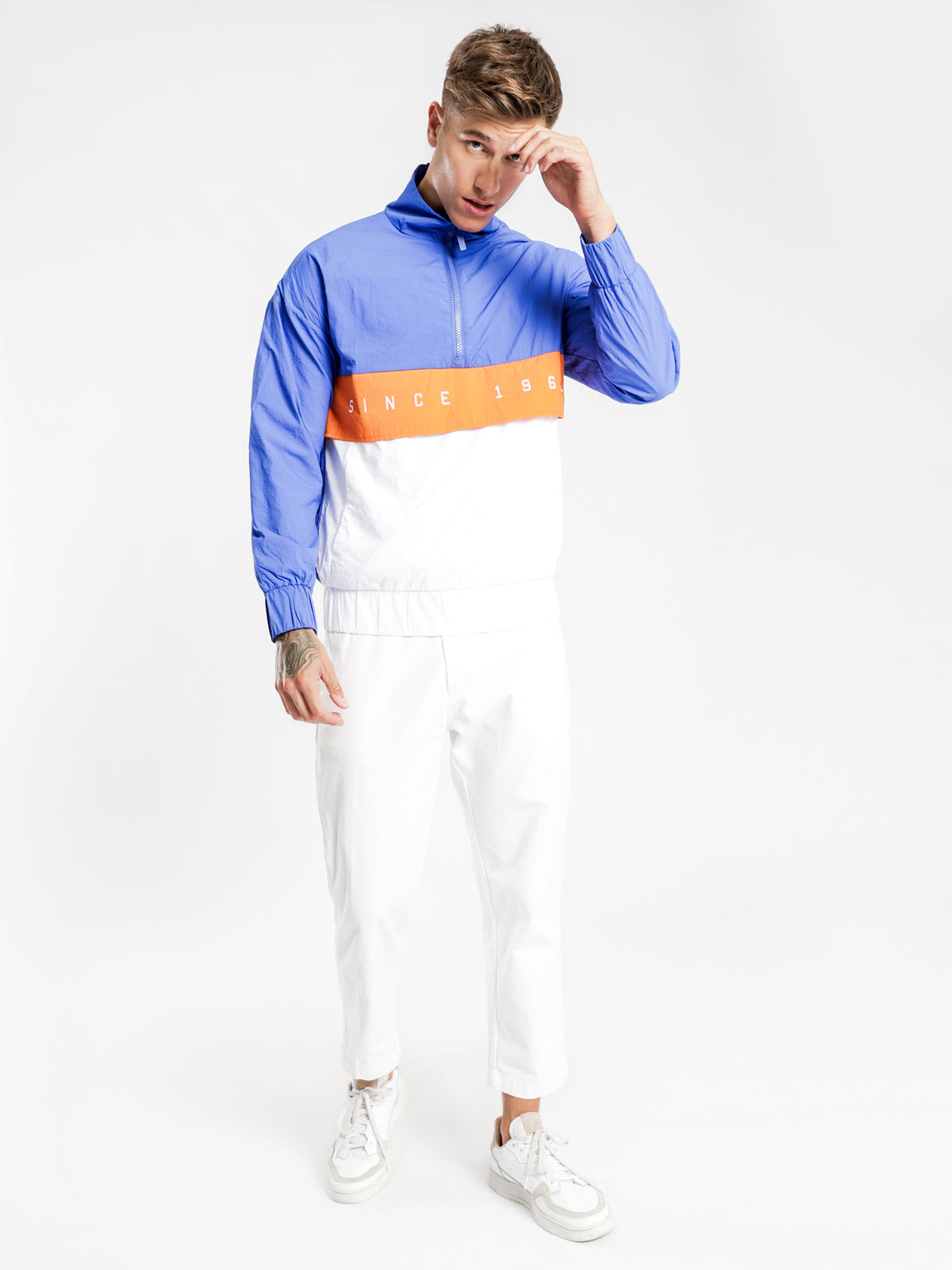 Authentic LA Camarg Jacket in Blue Orange & White