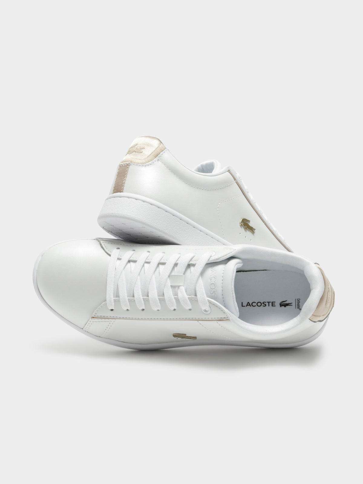Womens Carnaby Evo 118 Sneakers in White & Gold Leather