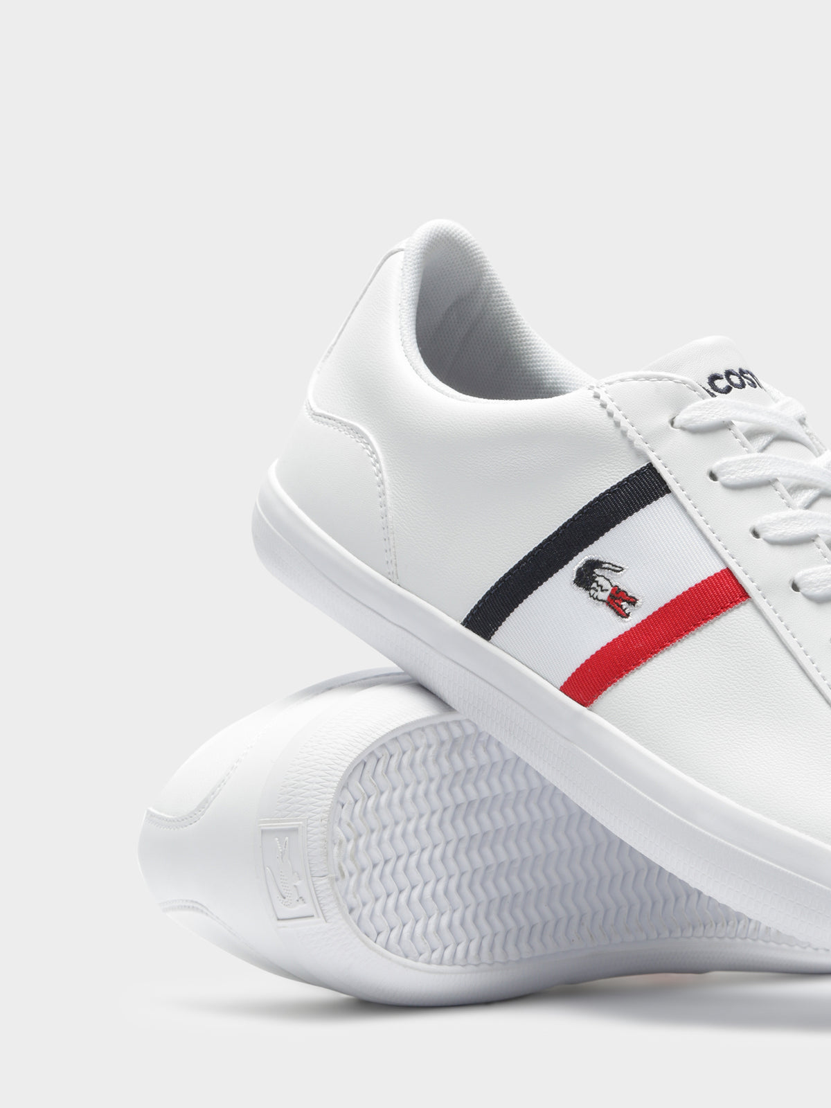 Mens Lerond TRI1 CMA Sneakers in White Navy &  Red